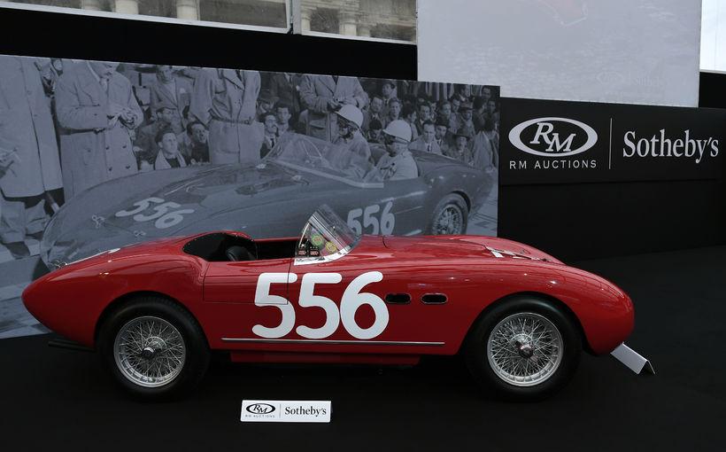 Þessi Ferrari 166 MM Spider frá 1953 er falur og ...