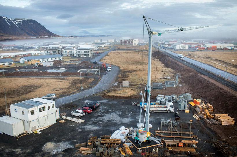 Byggingaframkvæmdir við Selfoss.