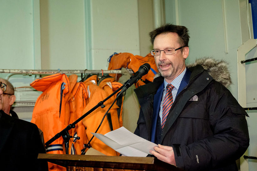Michael Nevin, sendiherra Bretlands á Íslandi, ávarpaði viðstadda.