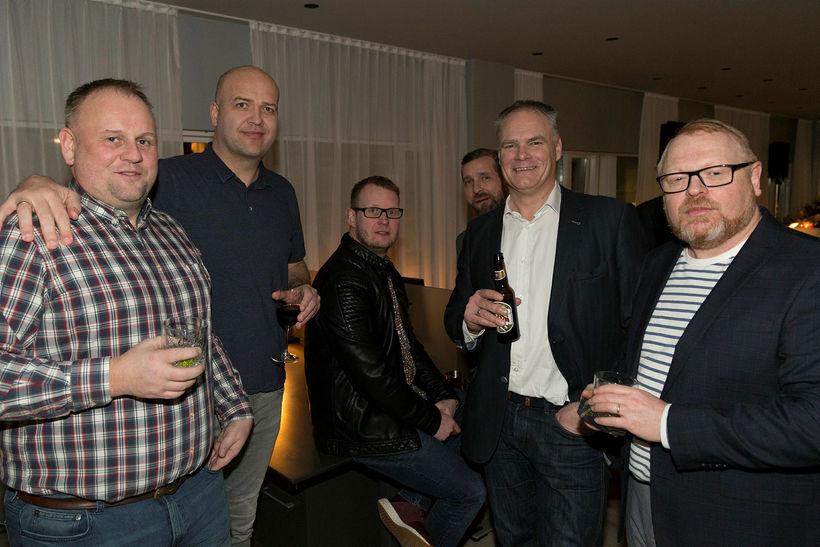 Einar, Patrekur Jóhannesson, Kiddi, Jói Páls, Gunnar Erlingsson og Haraldur ...