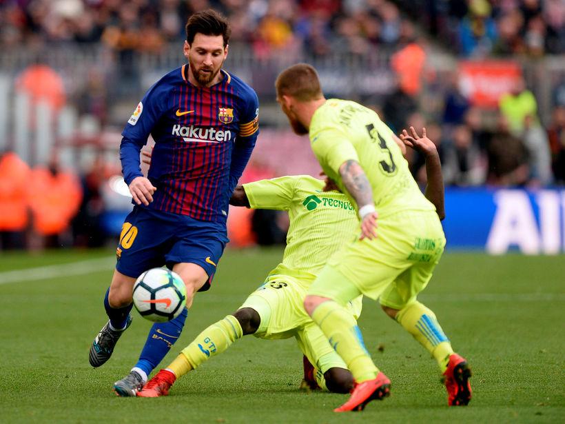 Lionel Messi í leiknum gegn Getafe í gær.