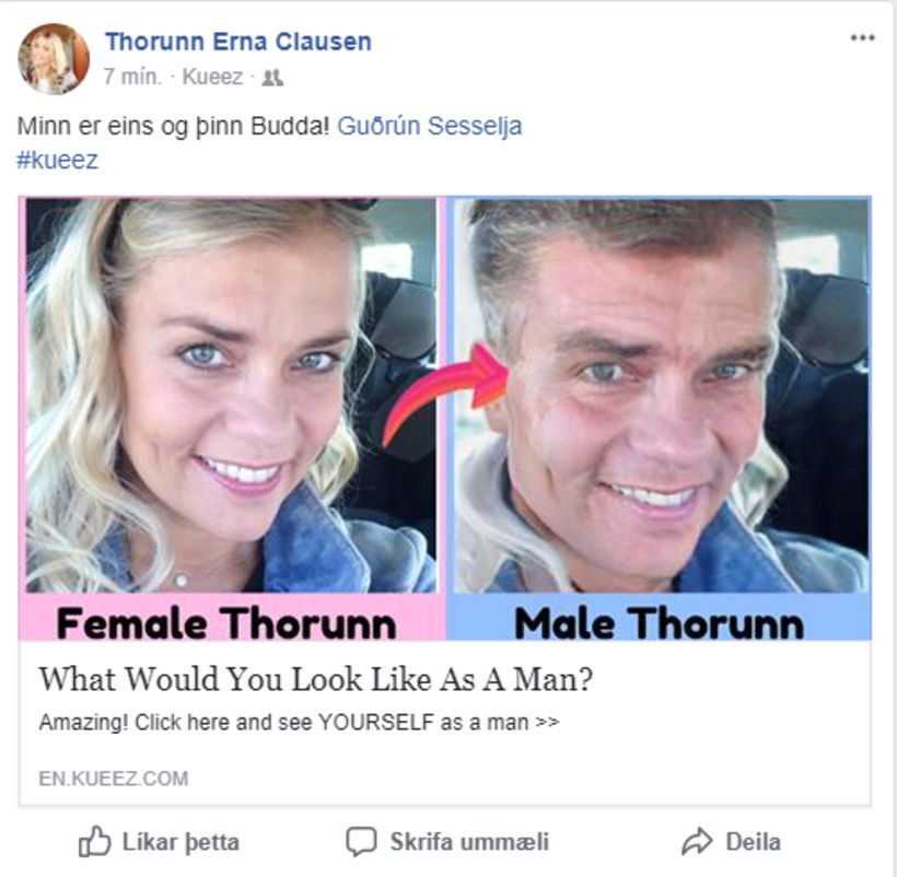 Skjáskot/Facebook