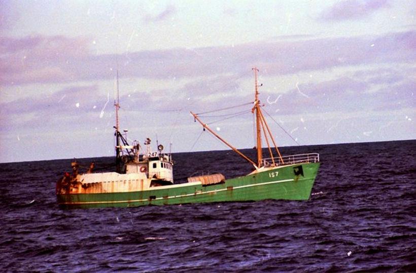 Hugrún ÍS-7, báturinn sem Bjarni og Hávarður sigldu þessa nótt.