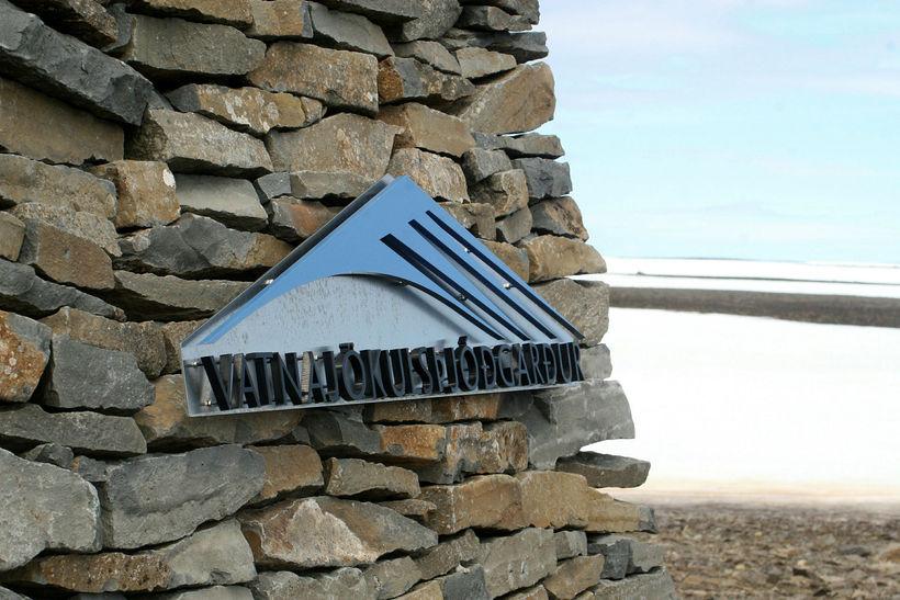 Varða á vegi í Vatnajökulsþjóðgarði.