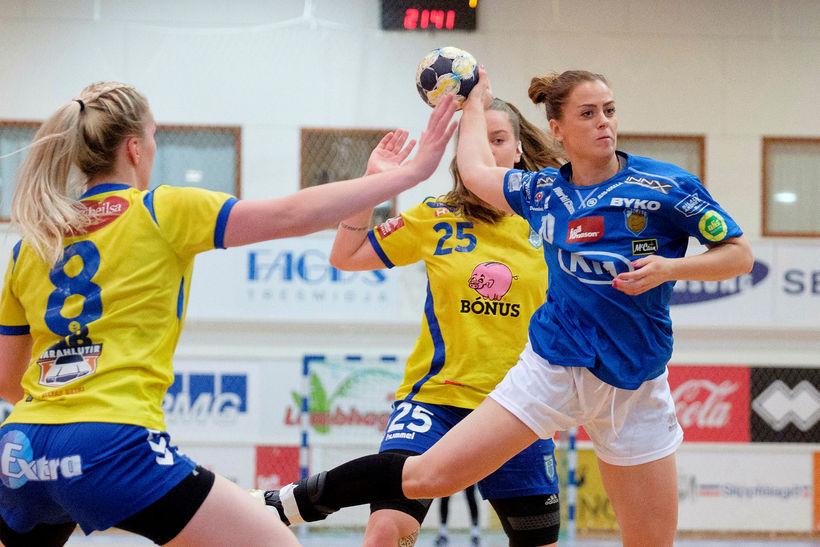 Karen Knútsdóttir í leik með Fram.