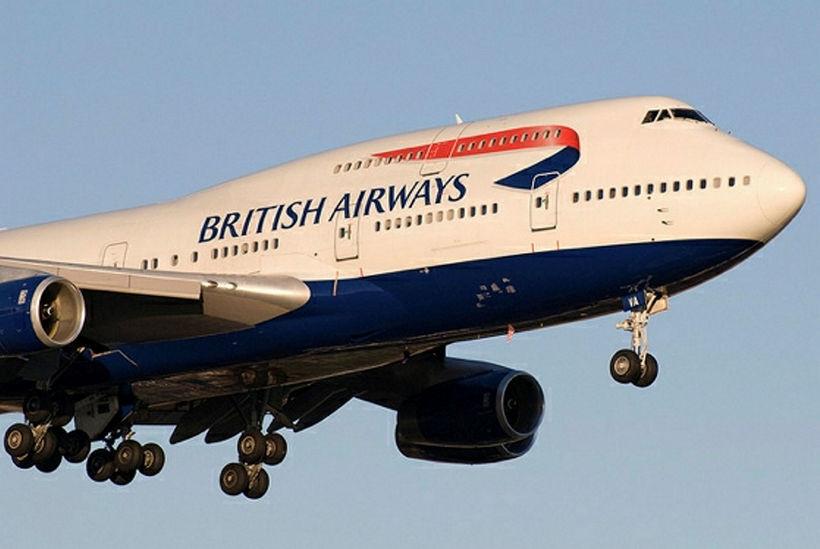 British Airways lét ekki vont veður aftra sér á sunnudaginn.