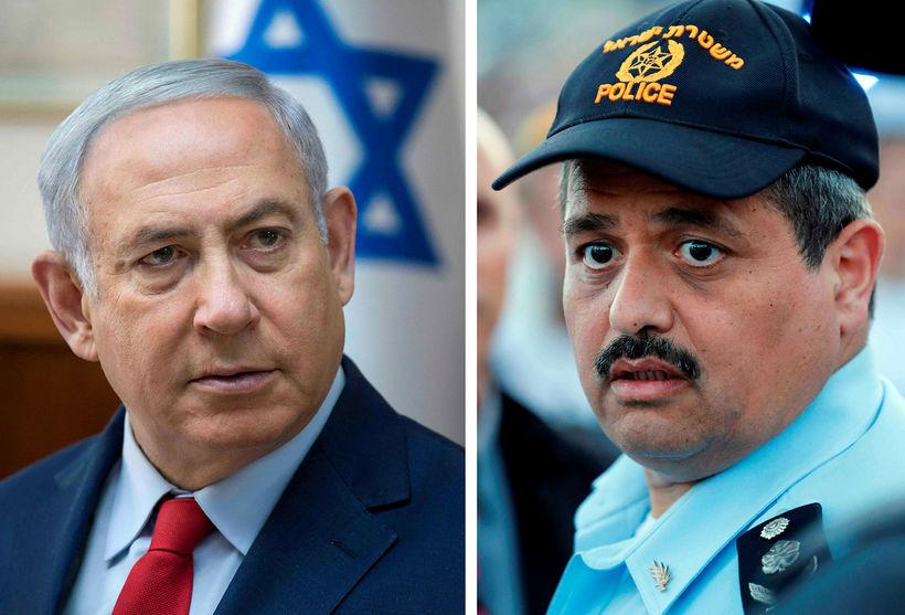 Benjamin Netanyahu, forsætisráðherra Ísraels, og lögreglustjórinn Roni Alsheikh. Netanyahu segir ...