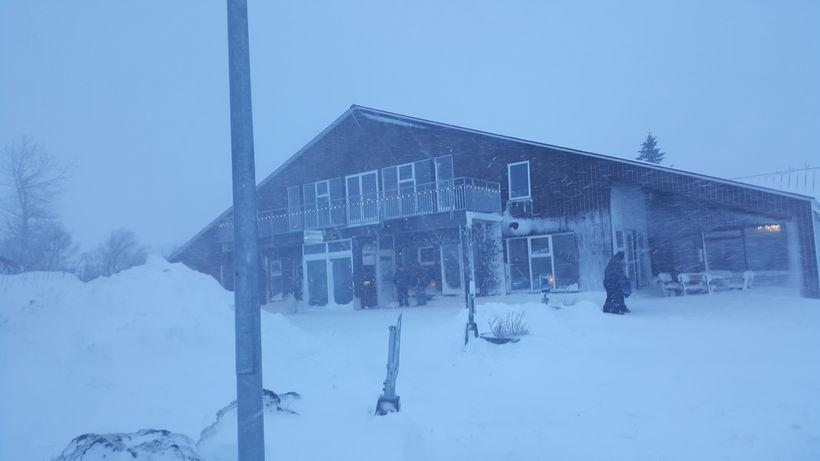 Talsvert hefur snjóað í Vík.