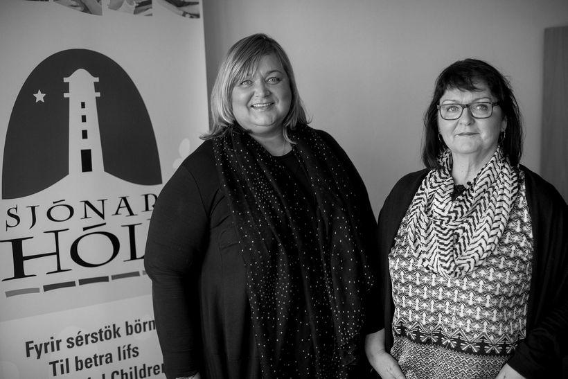 Inga Birna Sigfúsdóttir, ráðgjafi hjá Sjónarhóli, og Sigurrós Á. Gunnarsdóttir, ...