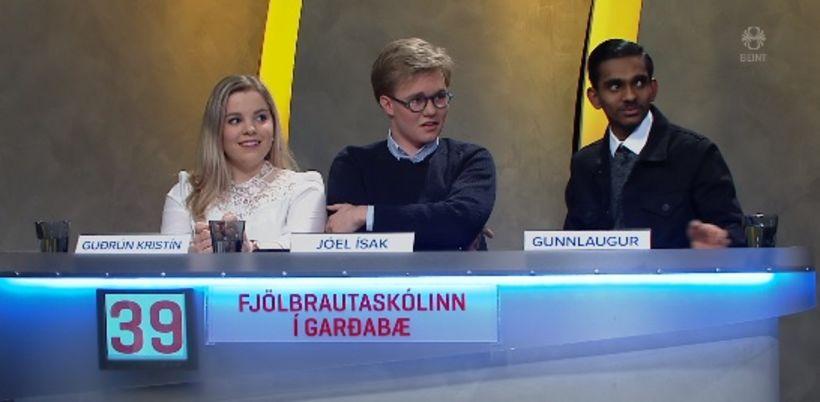 Lið Fjölbrautarskólans í Garðabæ er komið í undanúrslit Gettu betur ...