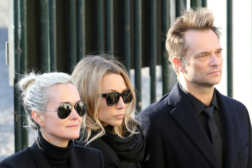 Laeticia Hallyday, Laura Smet og David Hallyday.