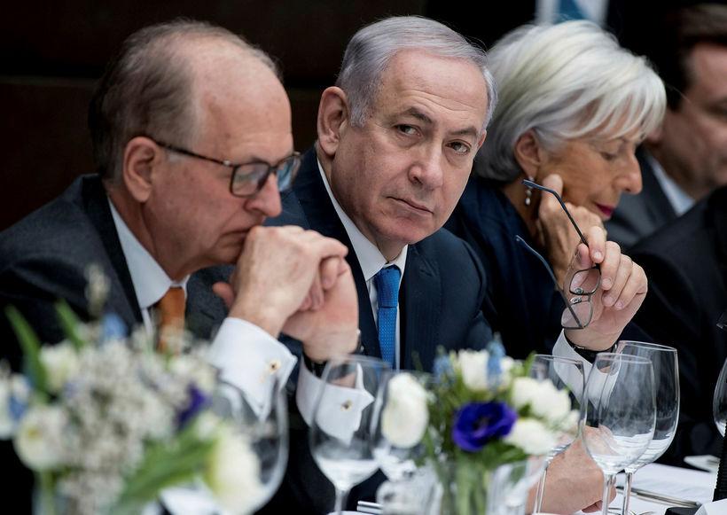 Benjamin Netanyahu á ráðstefnunni í gær.