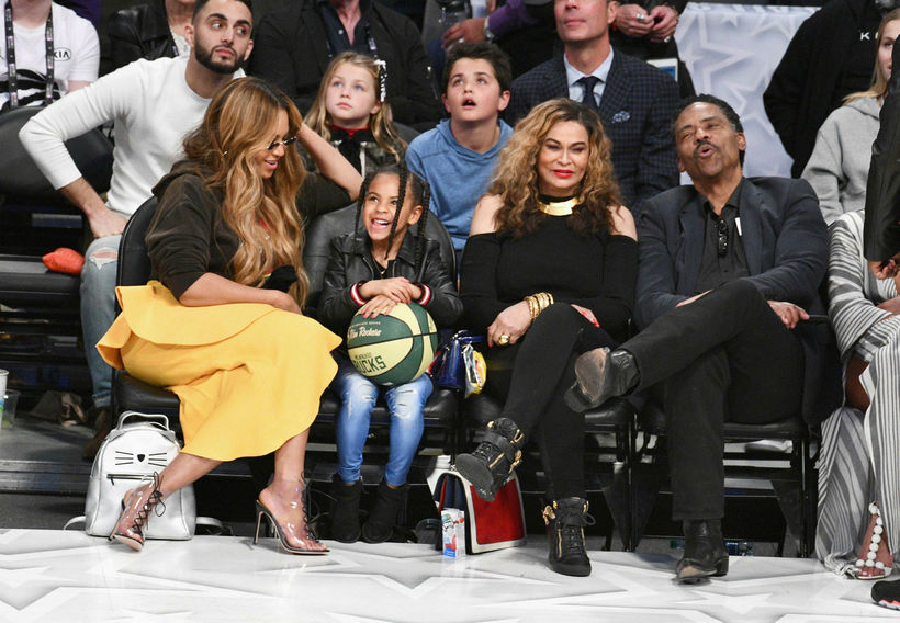 Beyonce, Blue Ivy Carter, Tina Knowles og Richard Lawson.