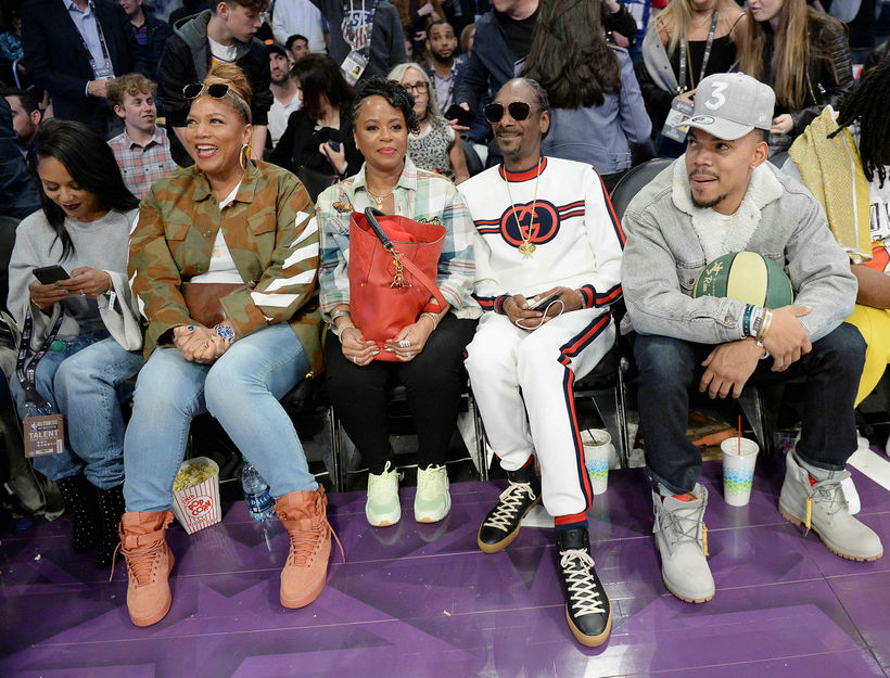 Queen Latifah, Shante Broadus, Snoop Dogg og Chance the Rapper.