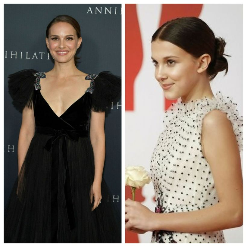 Natalie Portman og Millie Bobby Brown eru líkar.