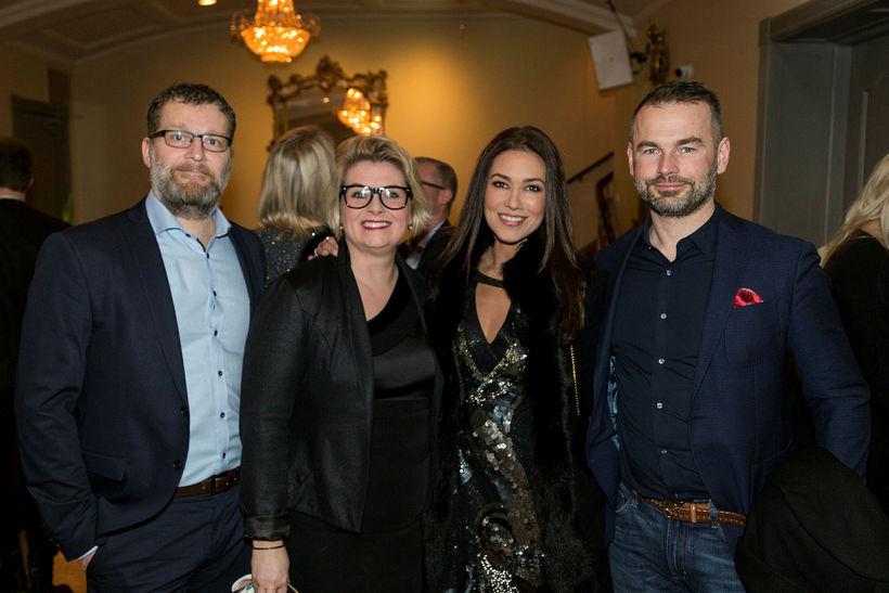 Haukur Óskarsson, Hulda Bjarnadóttir, Rikka og Haraldur Örn Ólafsson.