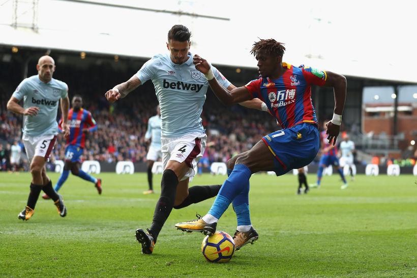 Jose Fonte í síðasta leik sínum með West Ham.