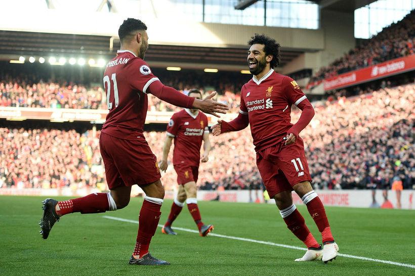 Mohamed Salah skoraði sitt 23. mark í ensku úrvalsdeildinni í ...