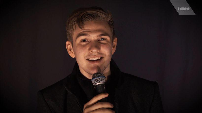 Ari Ólafsson í Eurovision Live Lounge K100.