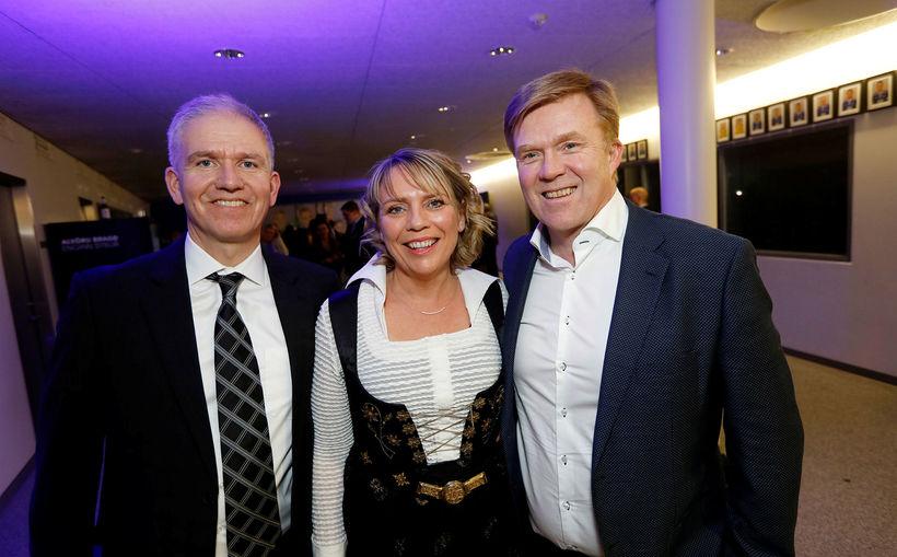 Kristinn Tryggvi Gunnarsson, Guðrún Högnadóttir og Sveinn Gíslason.