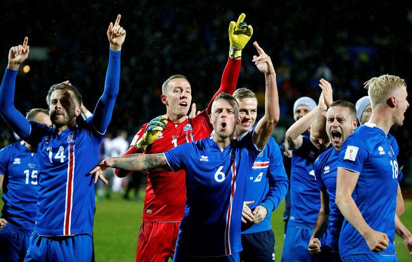 The Icelandic national football team.