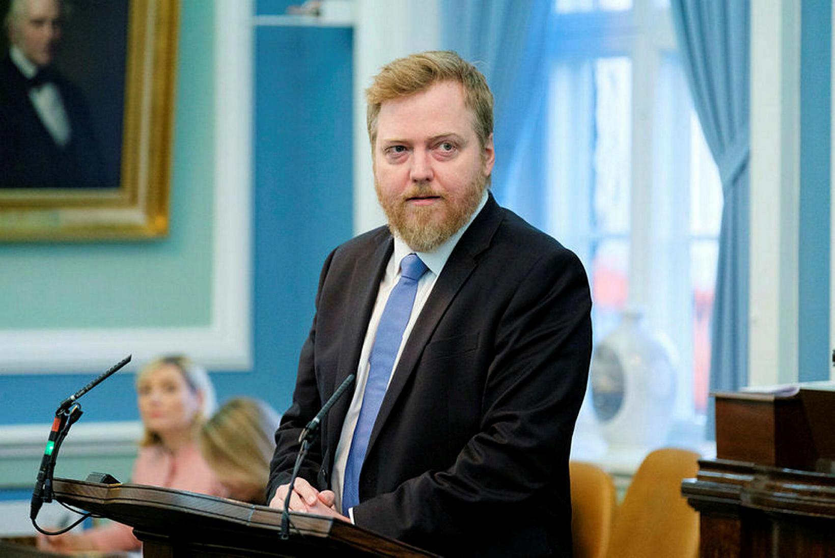 Sigmundur Davíð Gunnlaugsson þingmaður Miðflokksins.