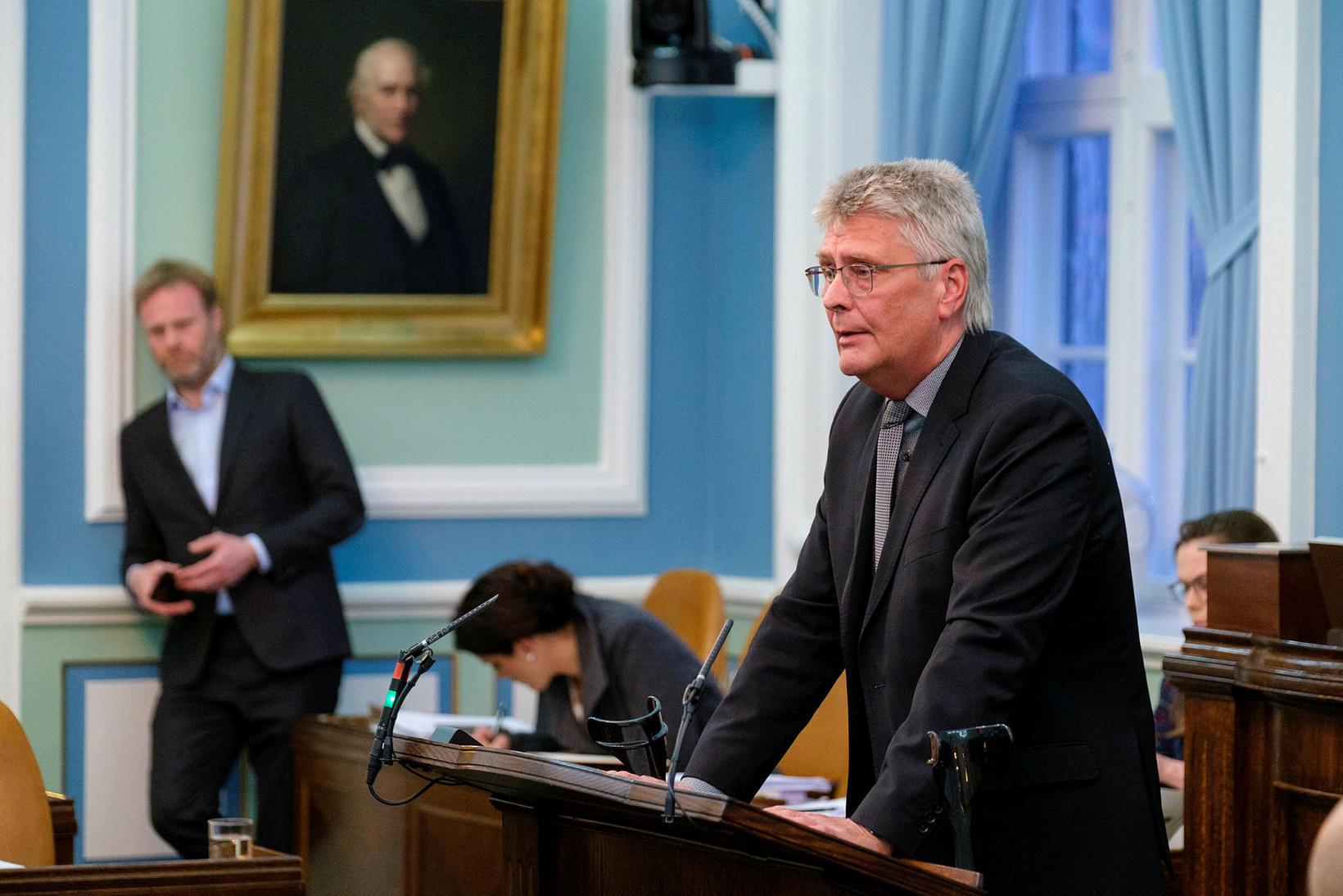 Guðmundur Ingi Kristinsson talaði næstmest, annað árið í röð.