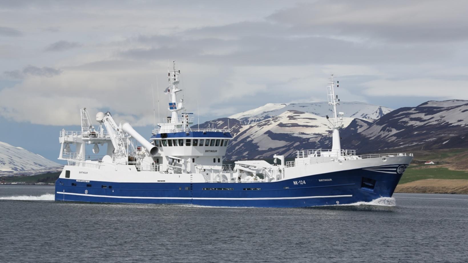 2012 fékk skipið nafnið Birtingur, en skipið hefur líklega verið …