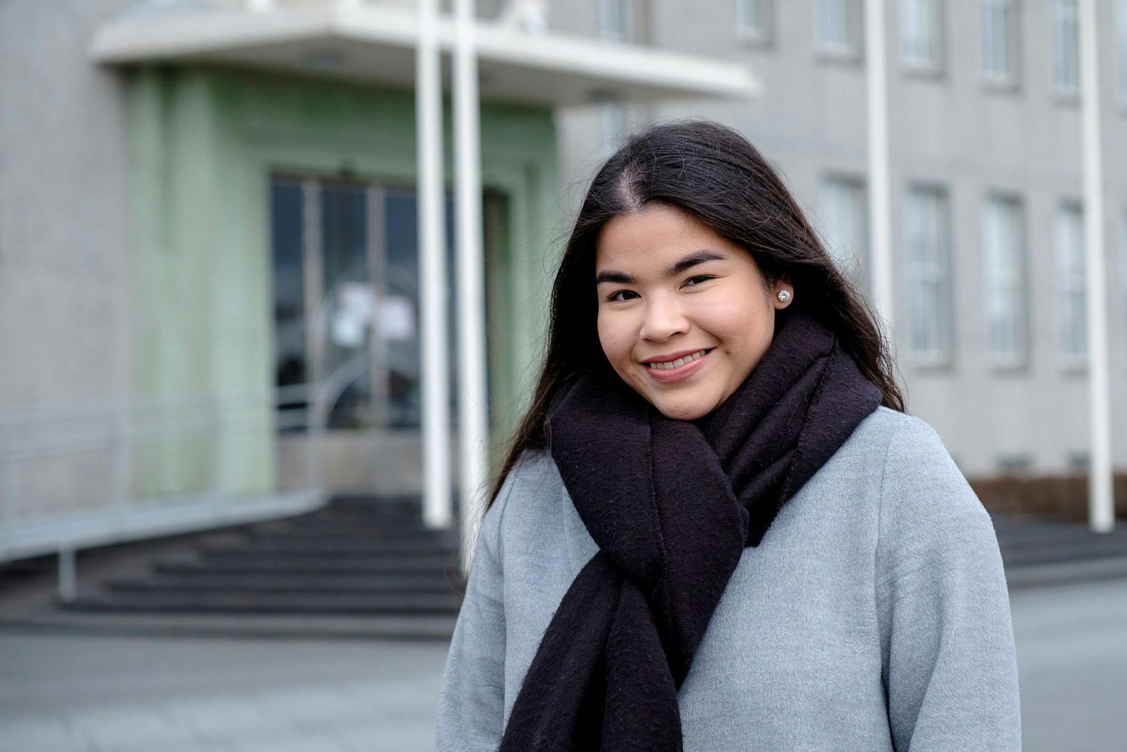 Isabel Alejandra Diaz er forseti Stúdentaráðs HÍ.