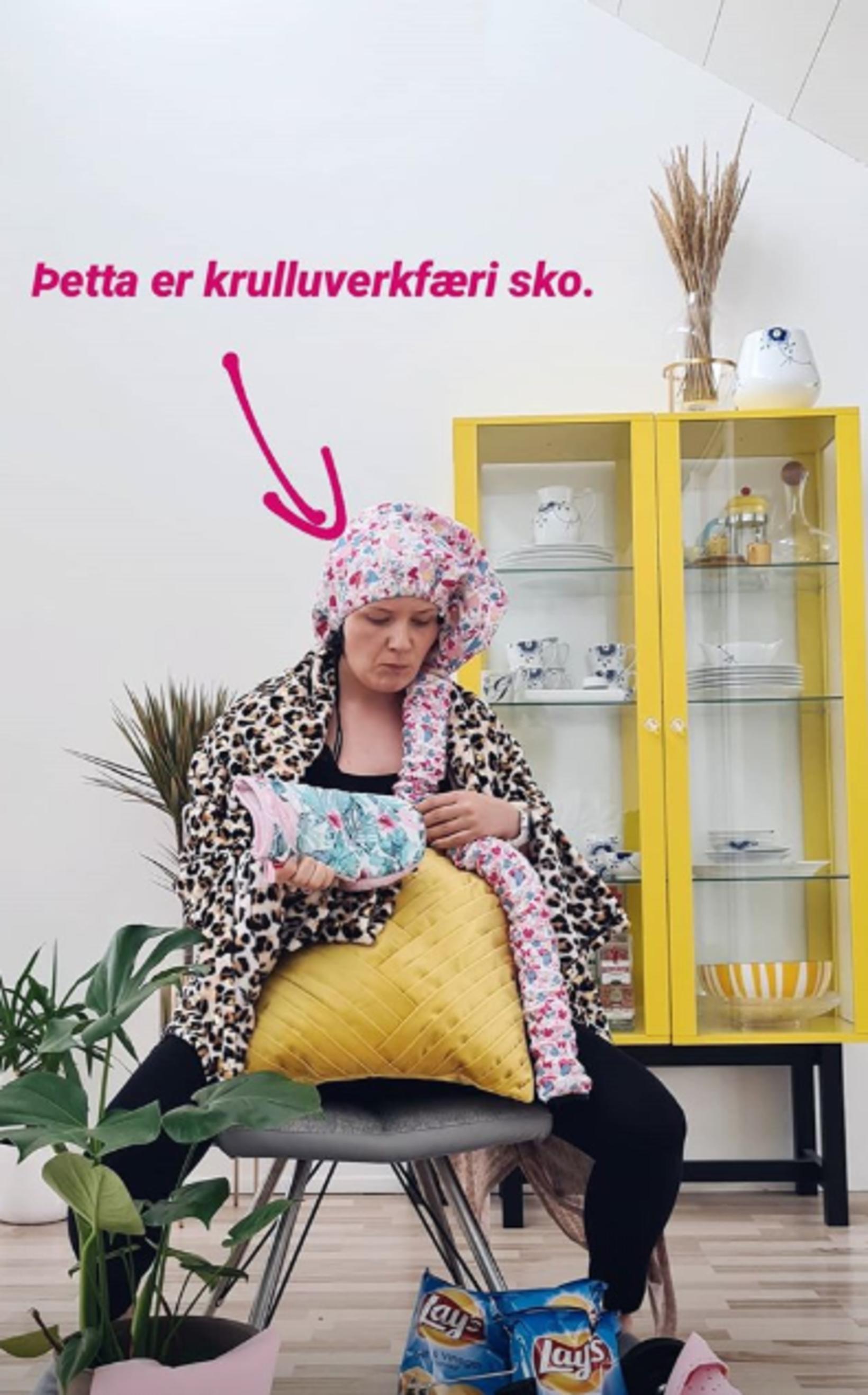 Guðrún Veiga með allt góssið.