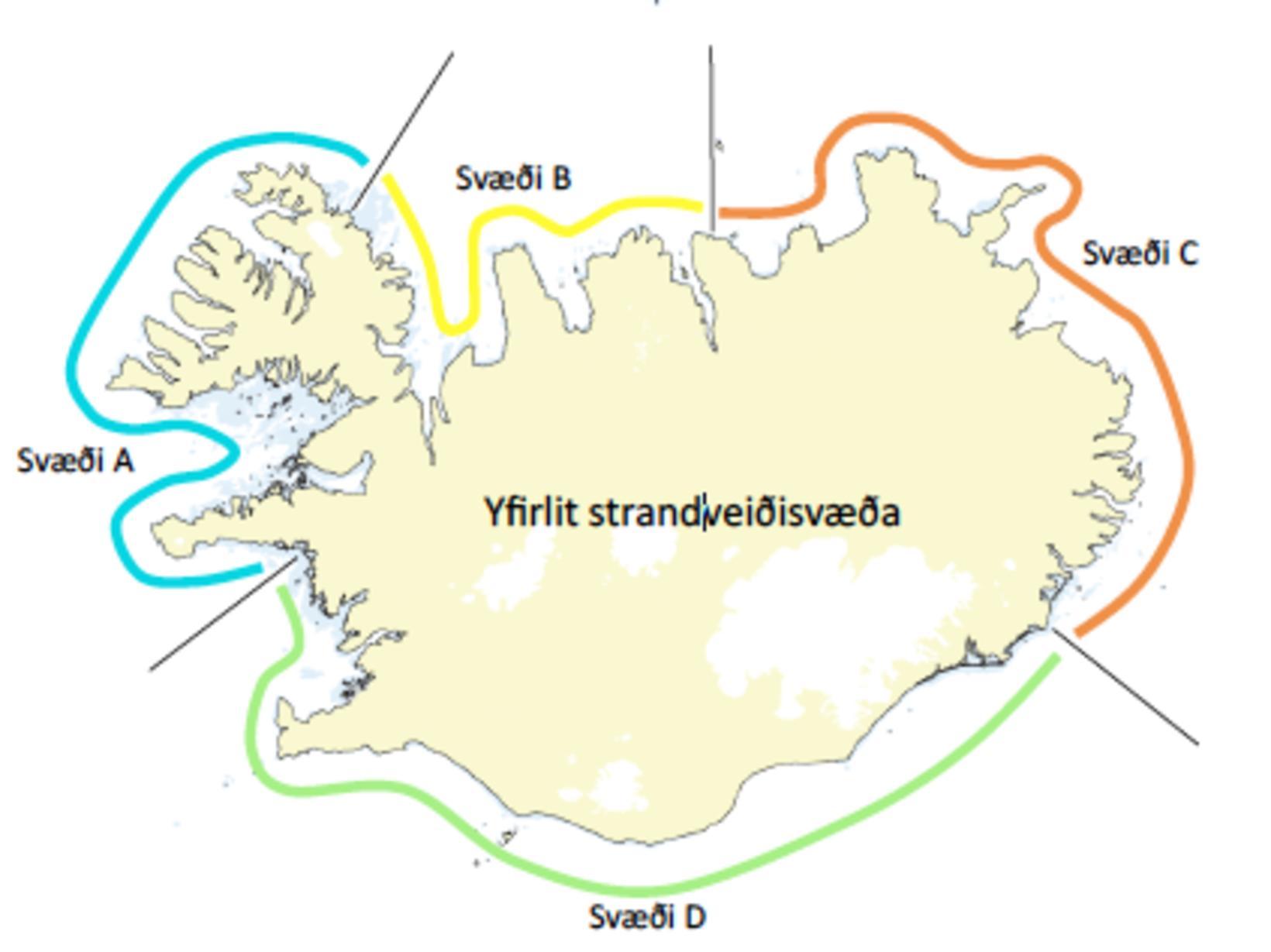 Strandveiðisvæðin.