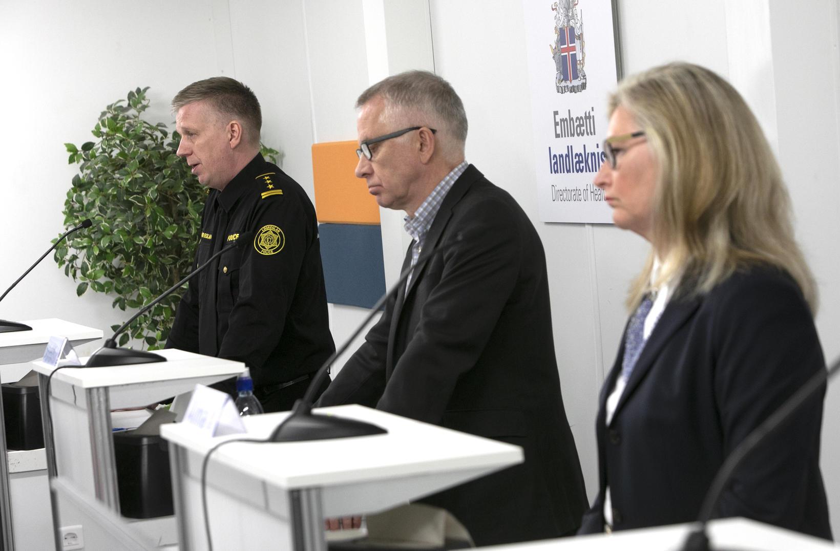 Chief Superintendent Víðir Reynisson, Chief Epidemiologist Þórólfur Guðnason and Director …