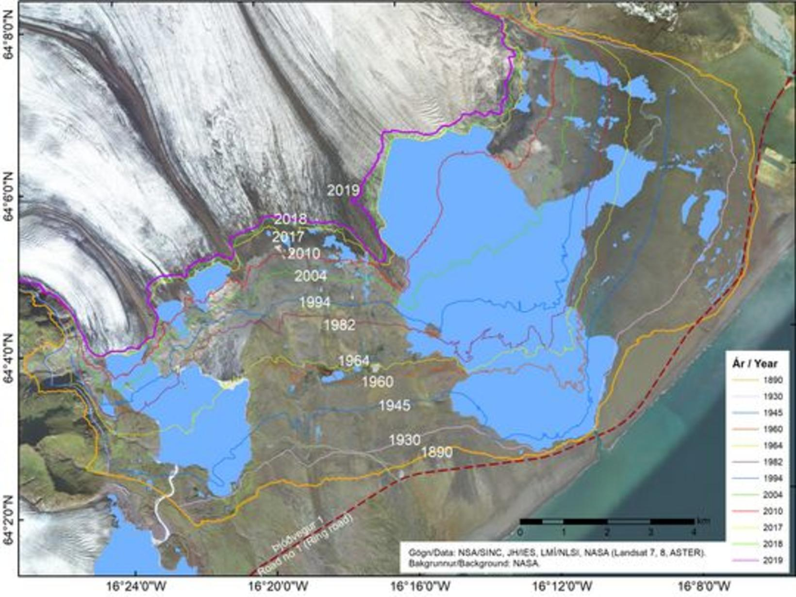 Changes in the ice margin of Breiðamerkurjökull outlet glacier by …