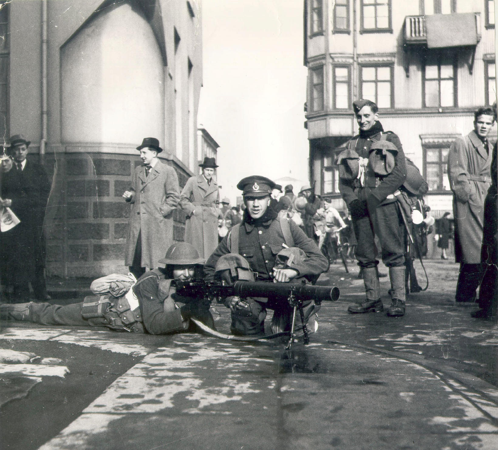 A famous photo from May 10, 1940. British soldiers on …