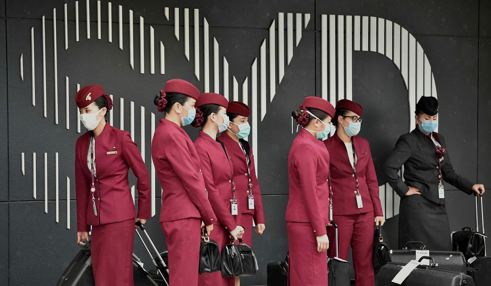 Rauði litur Qatar Airways verður ekki jafn sýnilegur og áður …