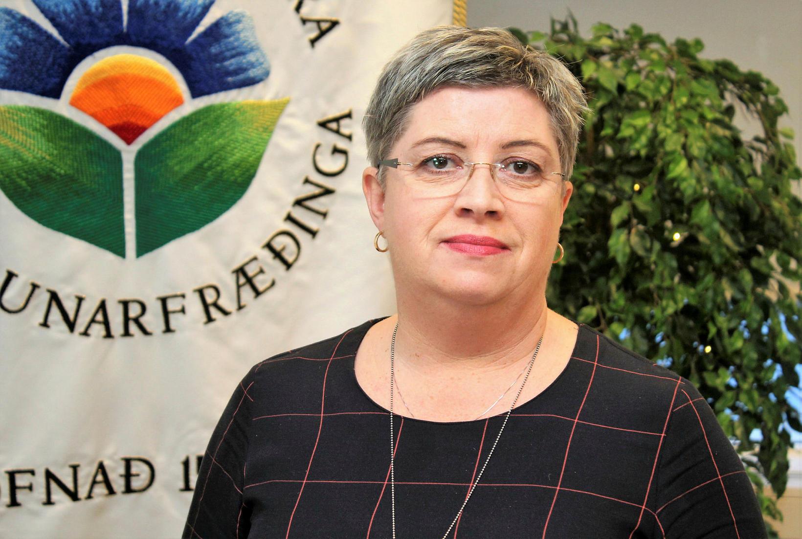 Head of the Icelandic Nurses' Association, Guðbjörg Pálsdóttir.