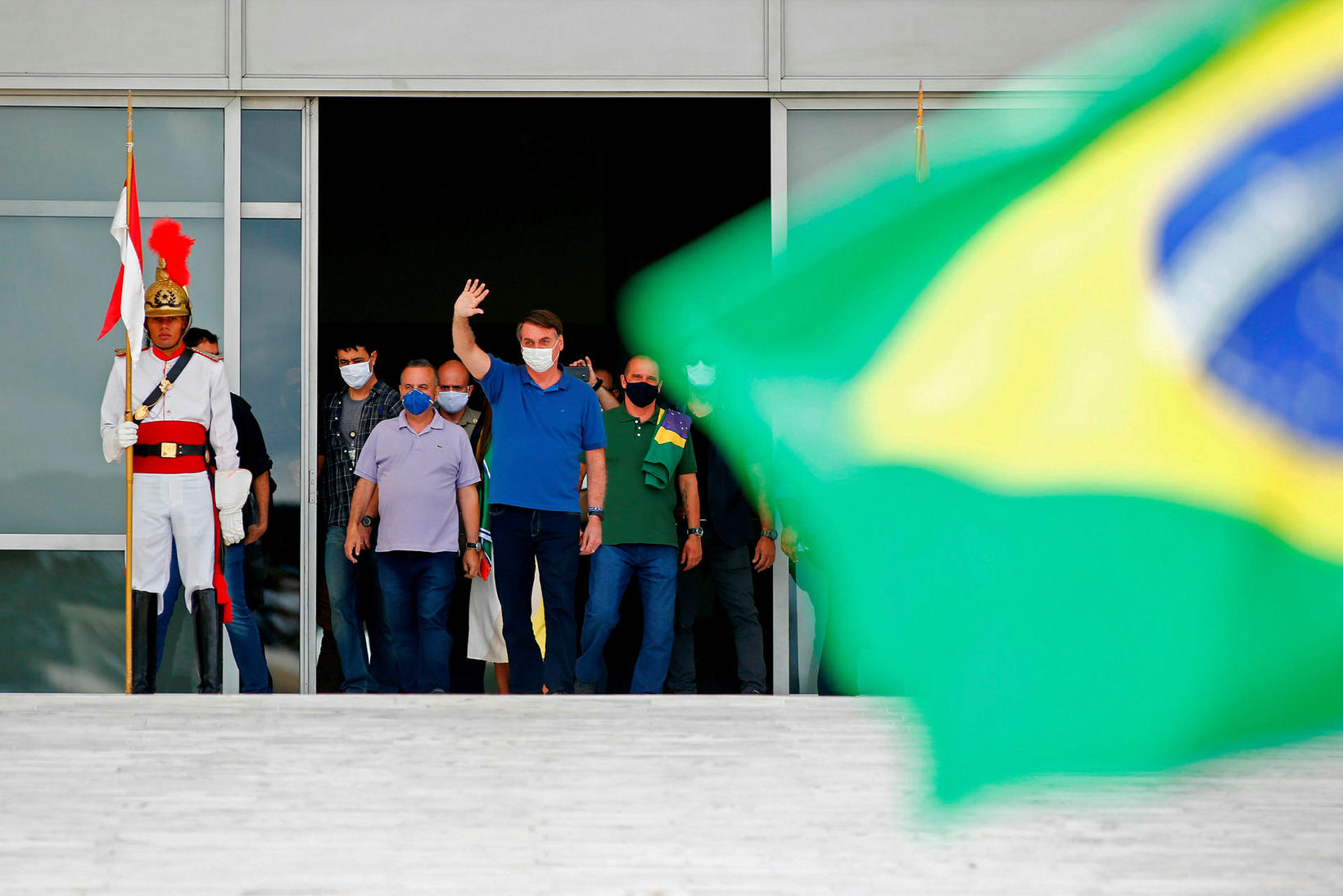 Forseti Brasilíu, Jair Bolsonaro.