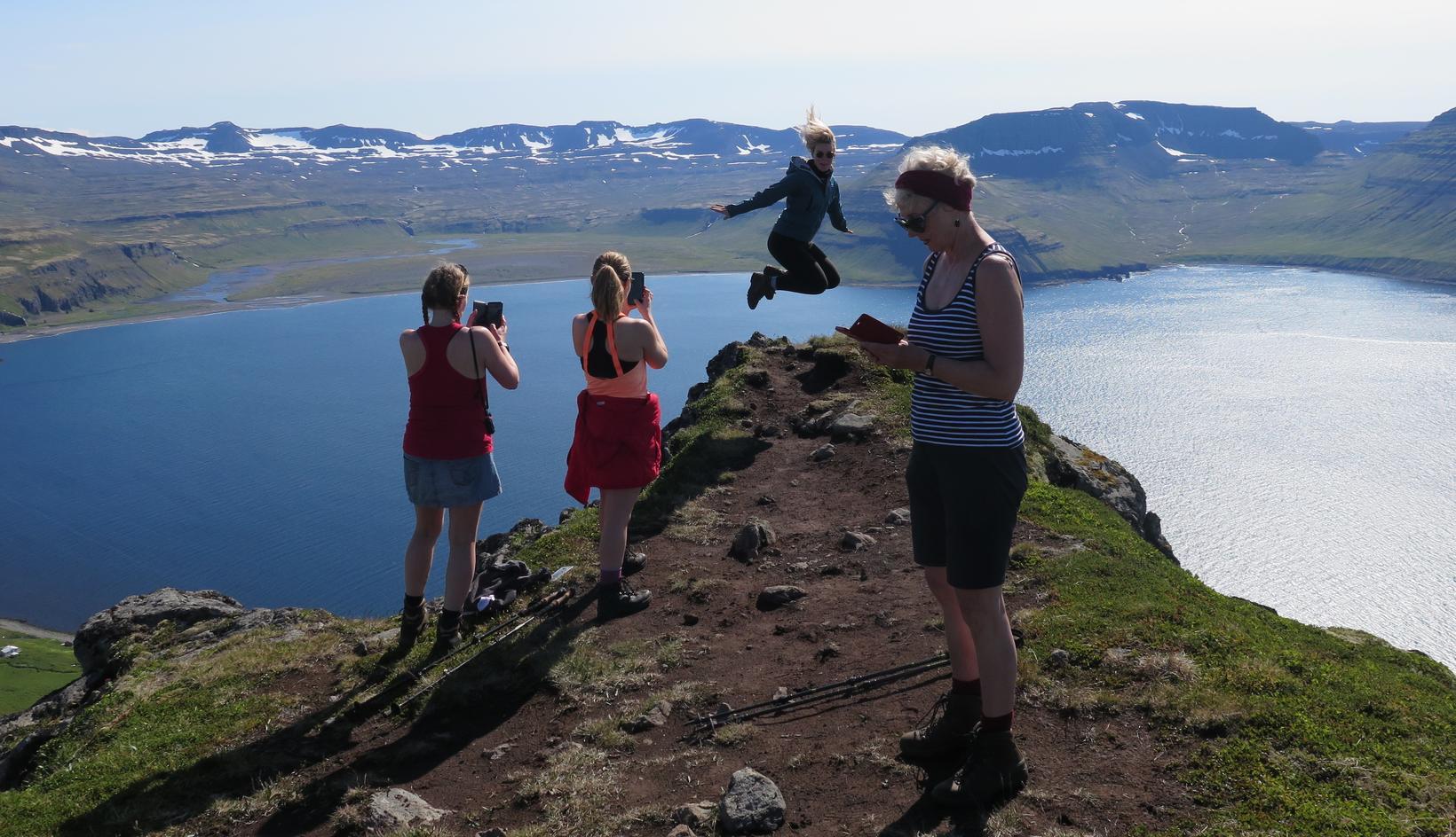 Í Hornvík á Hornströndum.