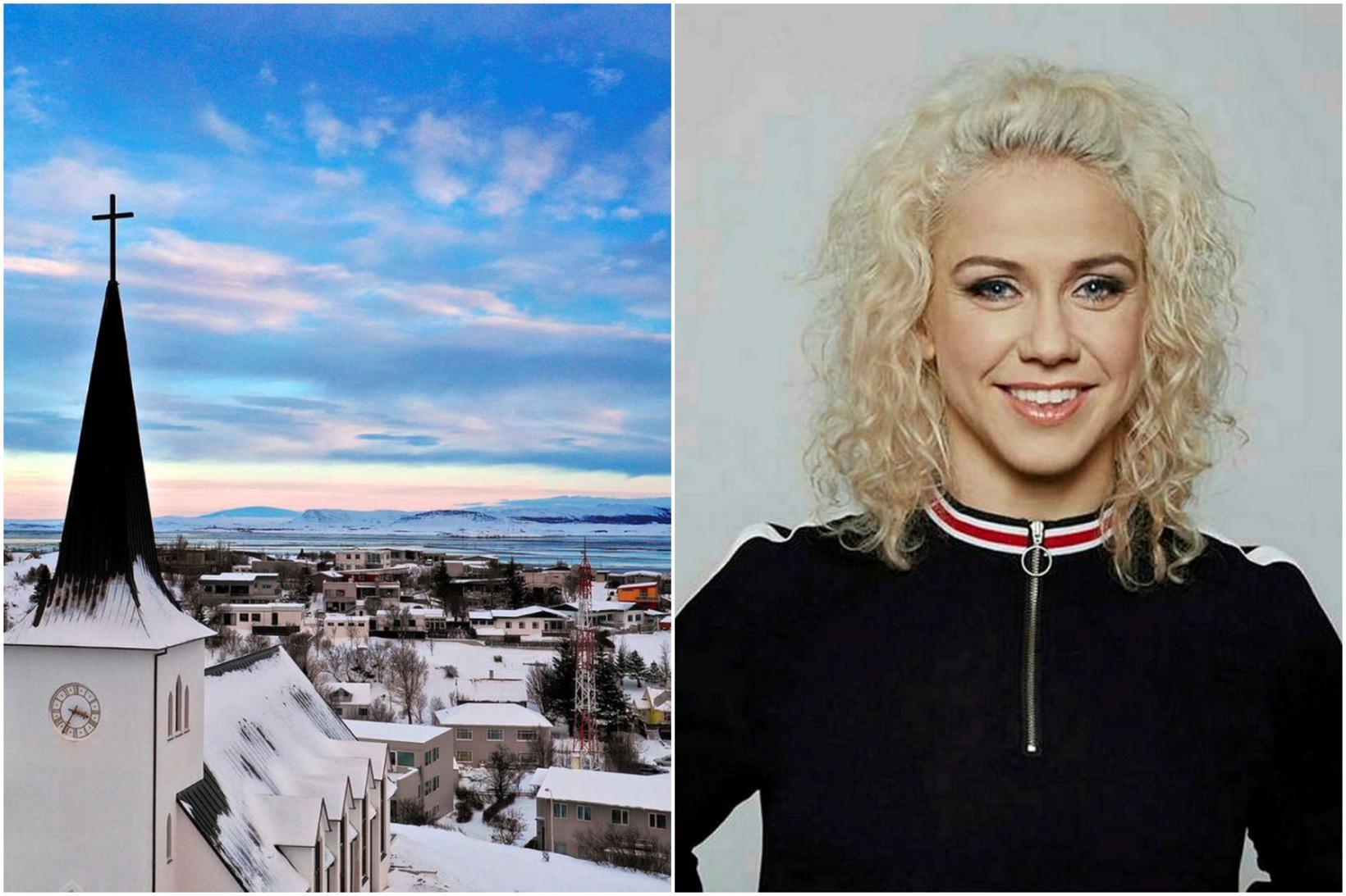 Borgnesingurinn Kristín Sif, einn þáttastjórnanda morgunþáttarins Ísland vaknar á K100 …