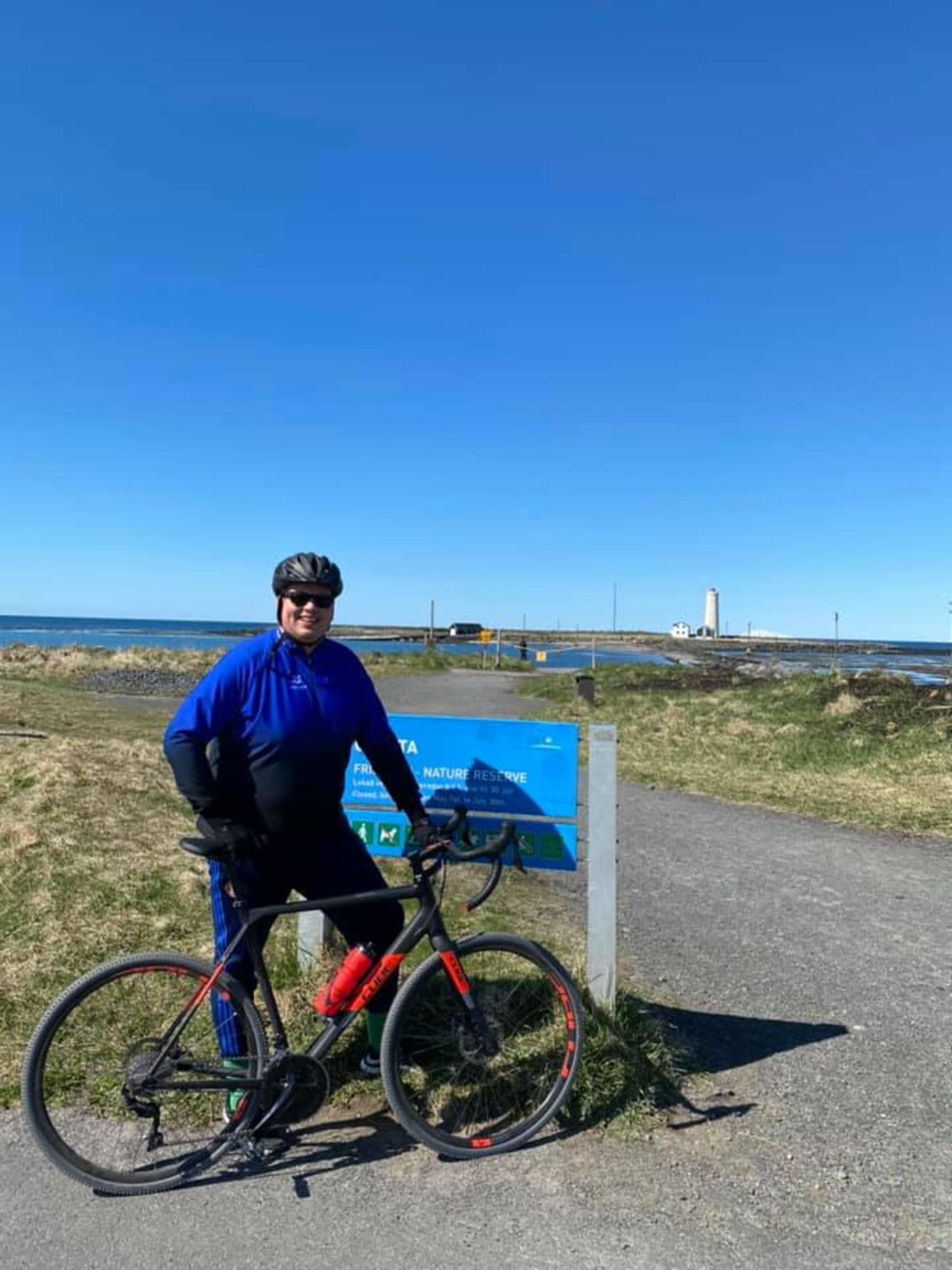 Siggi Gunnars hefur hjólað mikið upp á síðkastið og var …