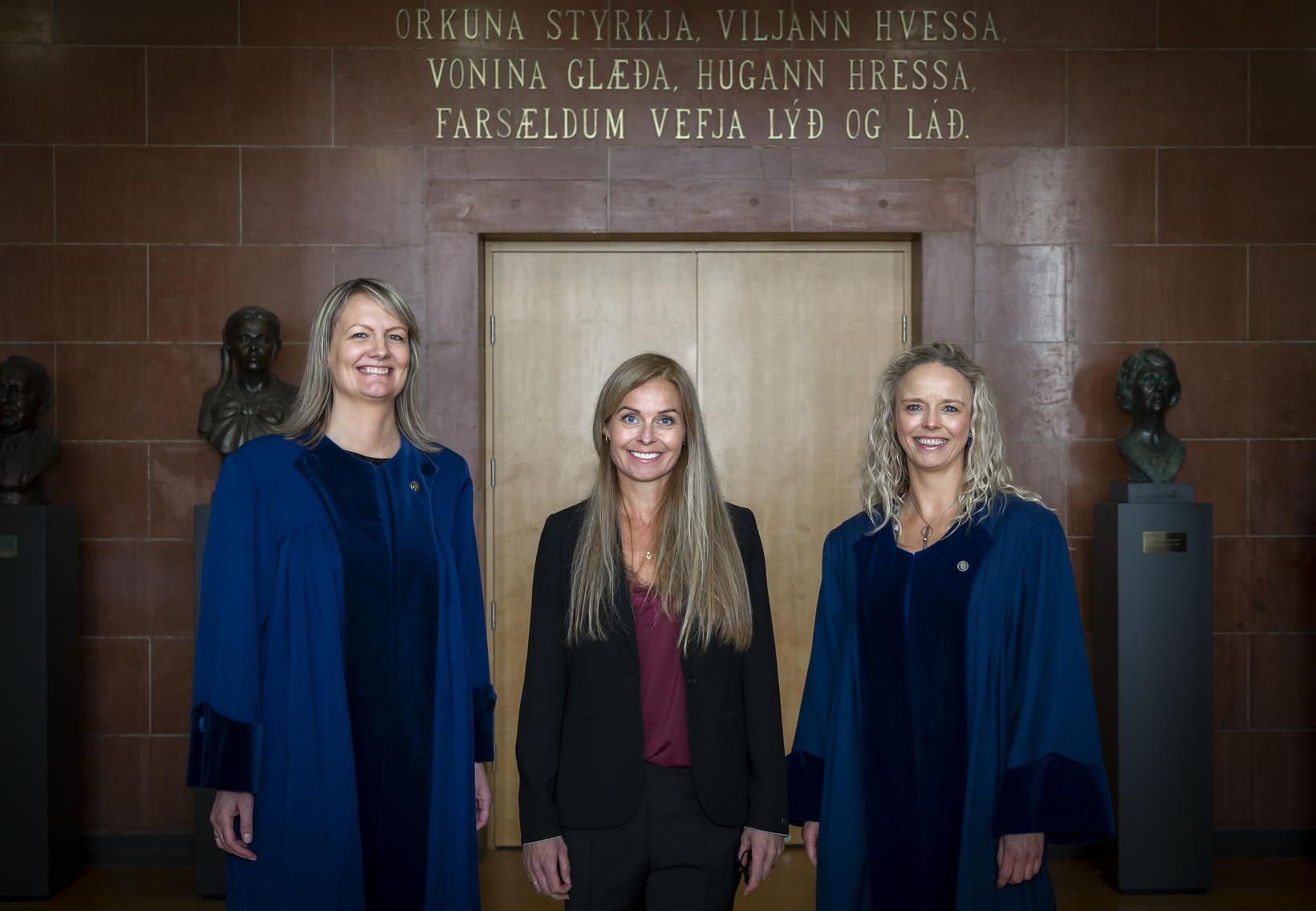 Dr. Erna Sif Arnardóttir, Dr. Vaka Rögnvaldsdóttir og Dr. Anna …