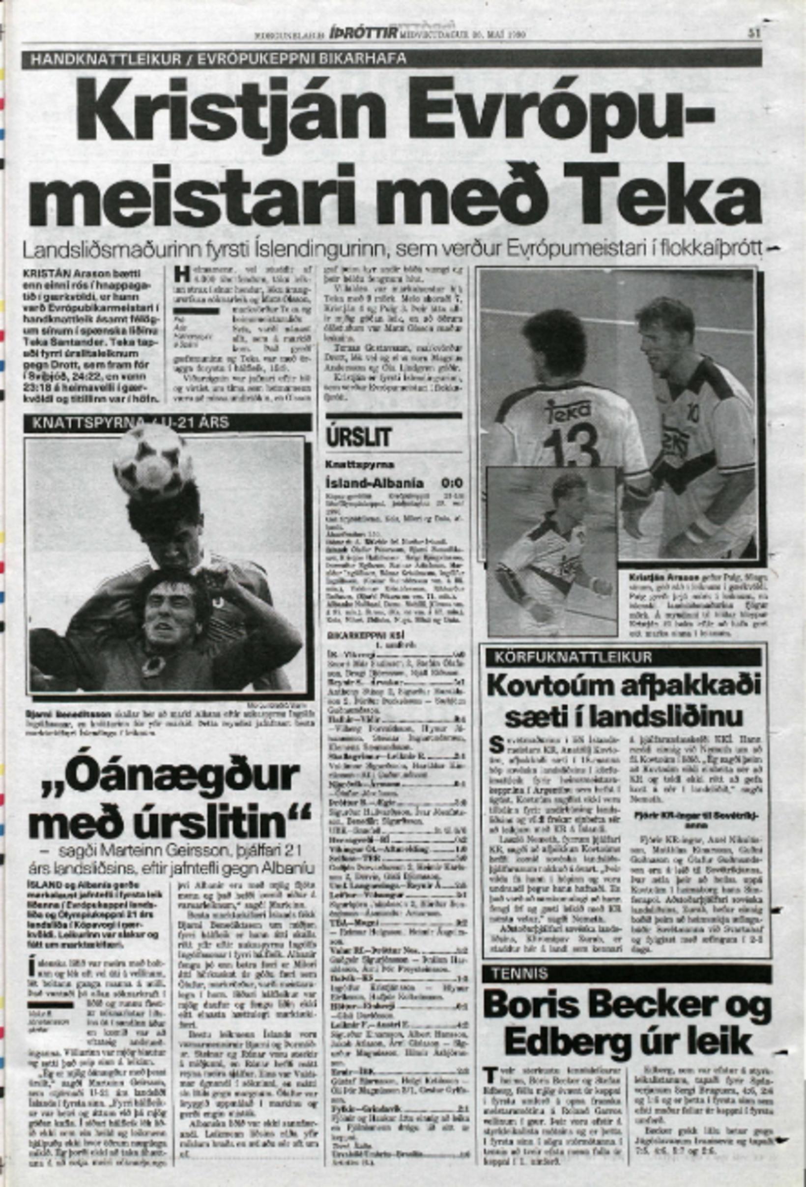 Morgunblaðið 30. maí 1990