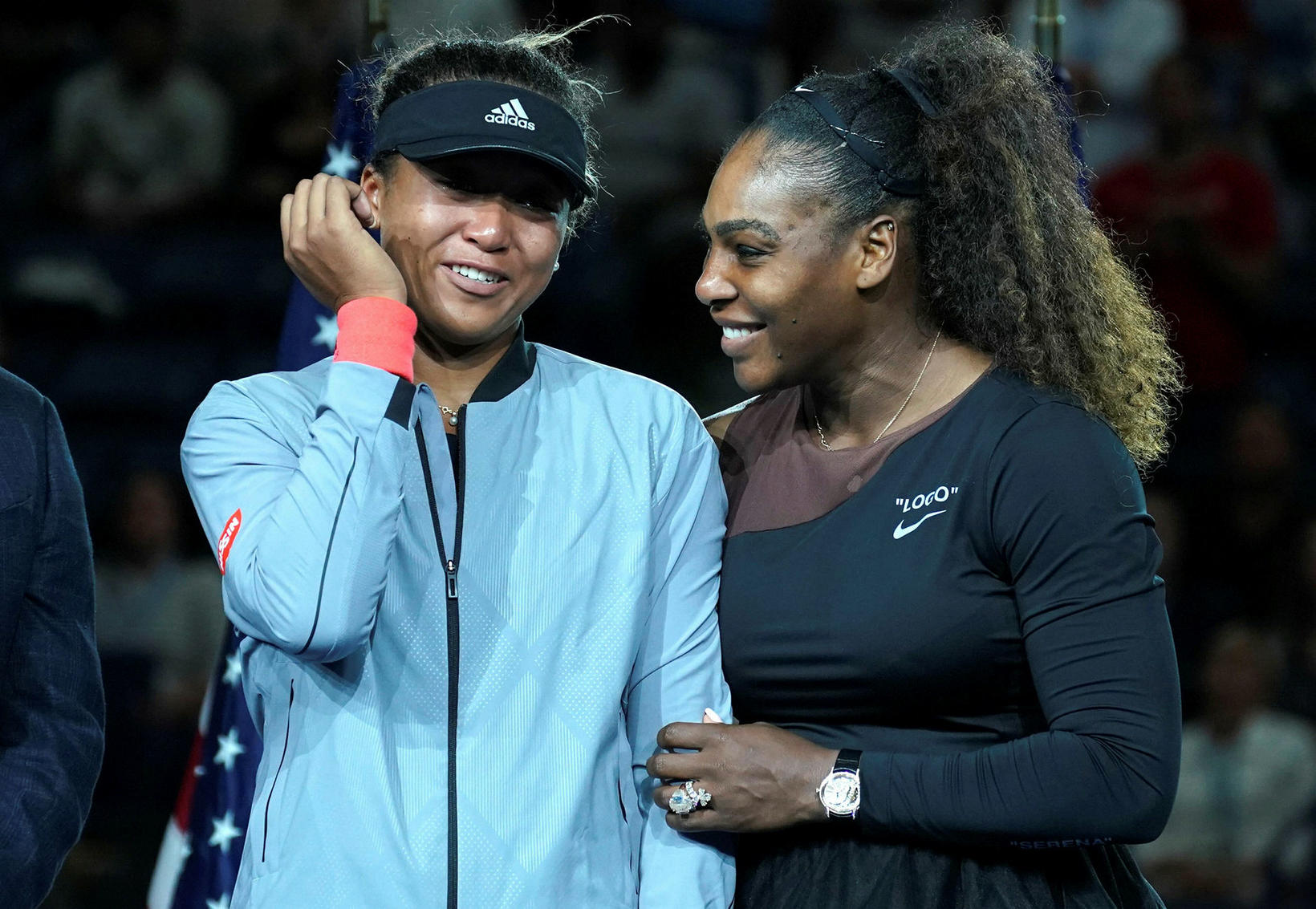 Naomi Osaka og Serena Williams eru í 29. og 33. …