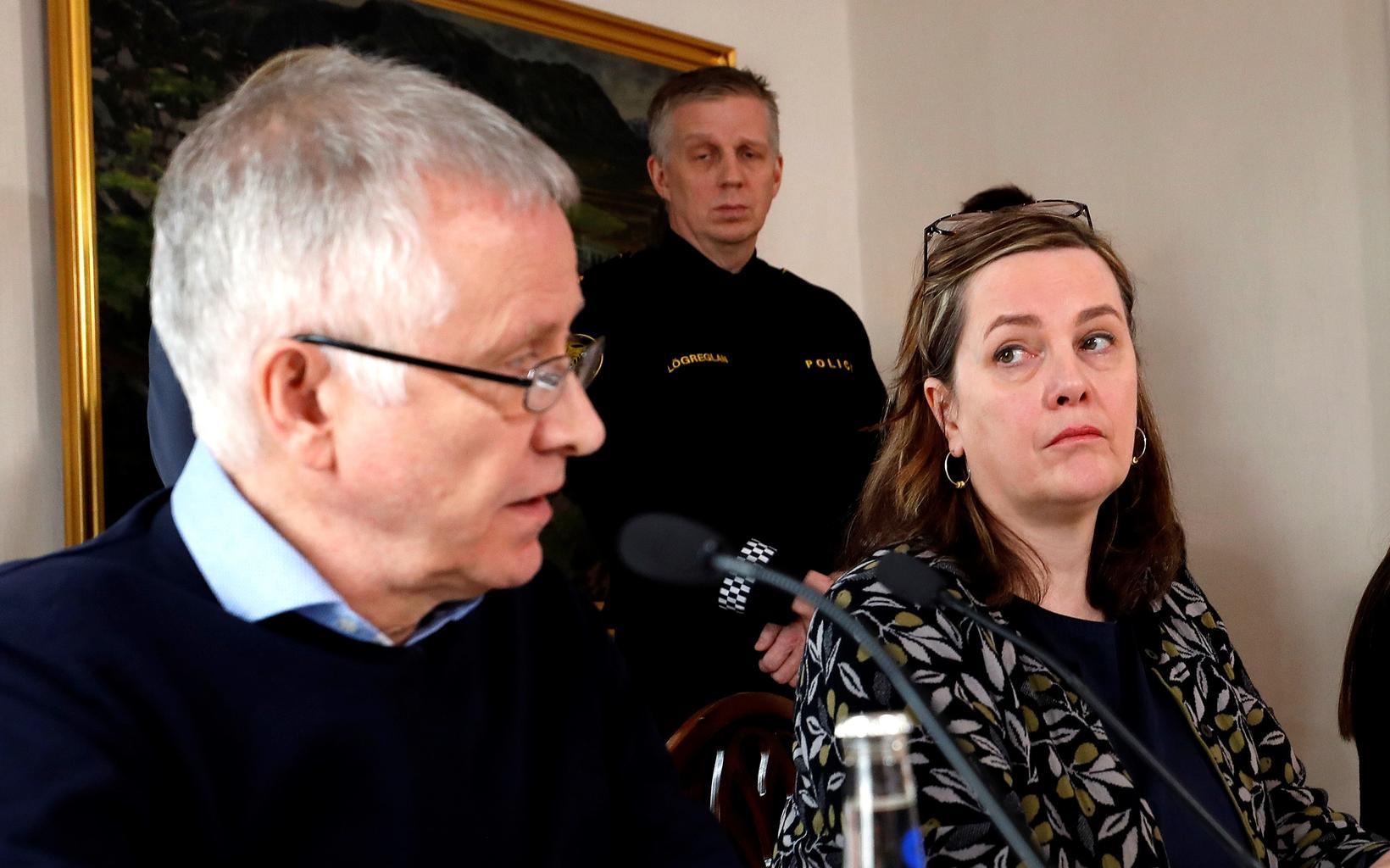 Chief Epidemiologist Þórólfur Guðnason and Minister of Health Svandís Svavarsdóttir.
