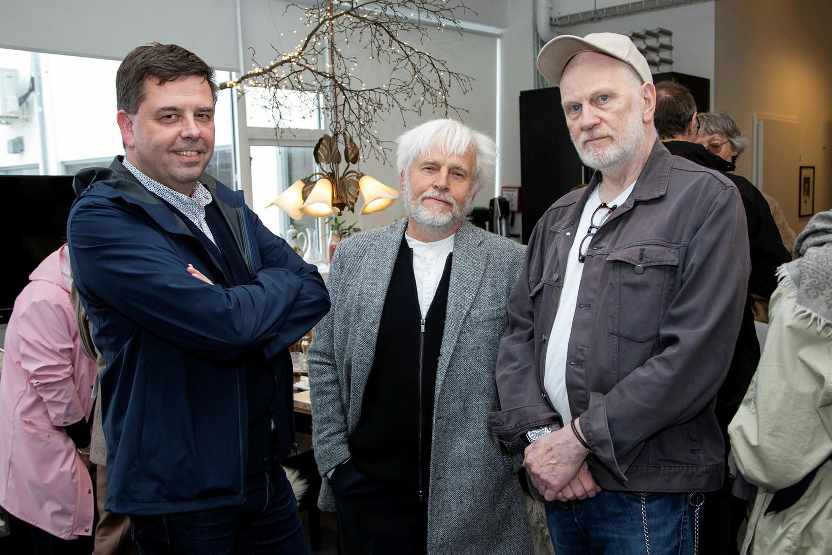 Ásmundur Hrafn Sturluson, Helgi Gíslason og Ívar Valgarðsson.