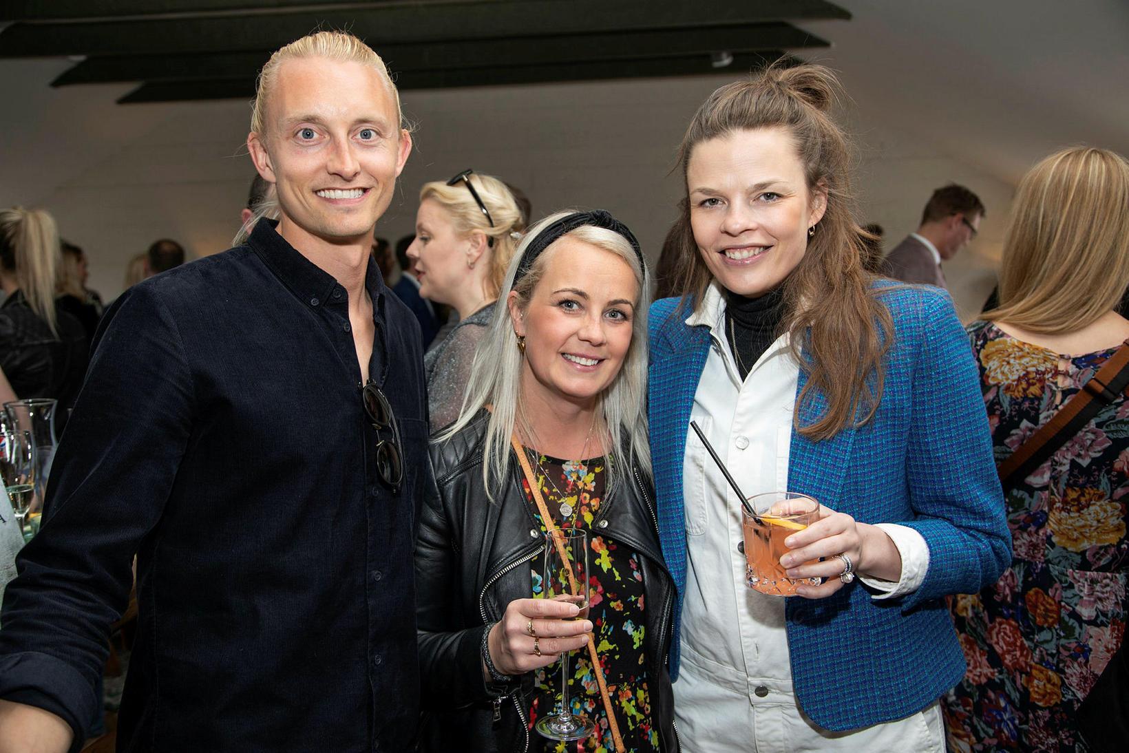 Sölvi Sturluson, Pálína Magnúsdóttir og Olga Lilja.