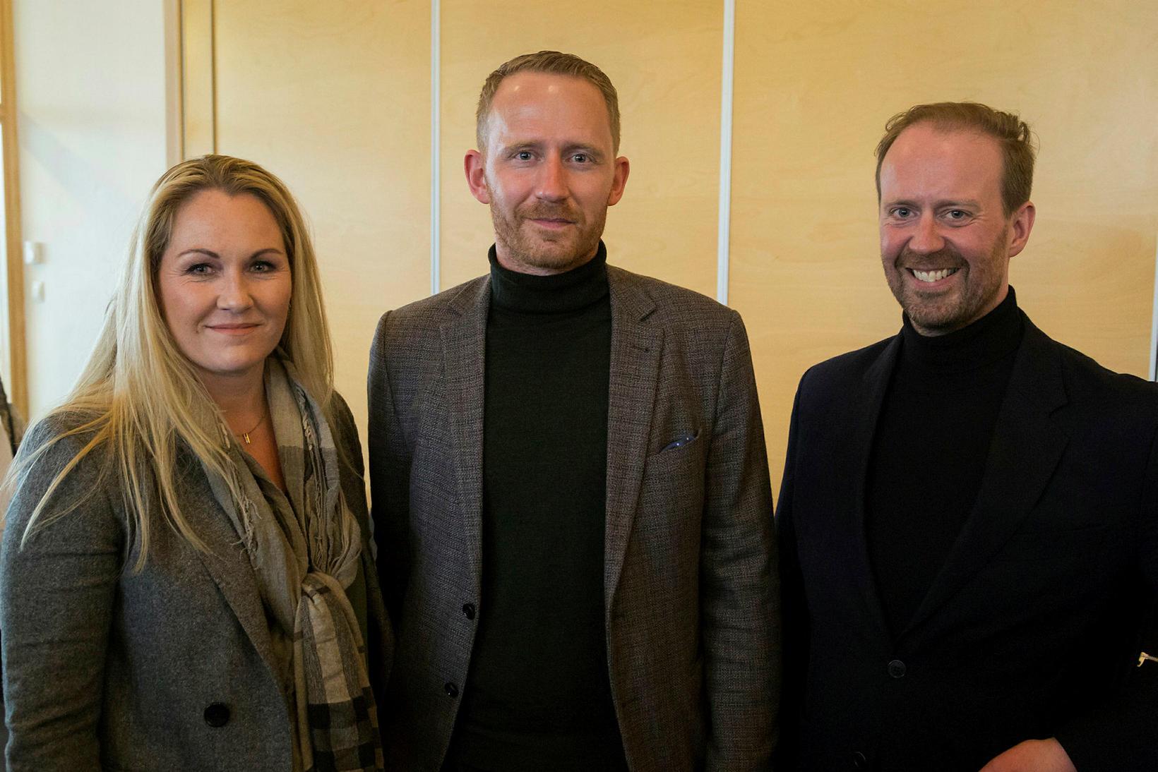 Svanhildur Hólm Valsdóttir, Hjalti Mogensen og Sigurður Hannesson.