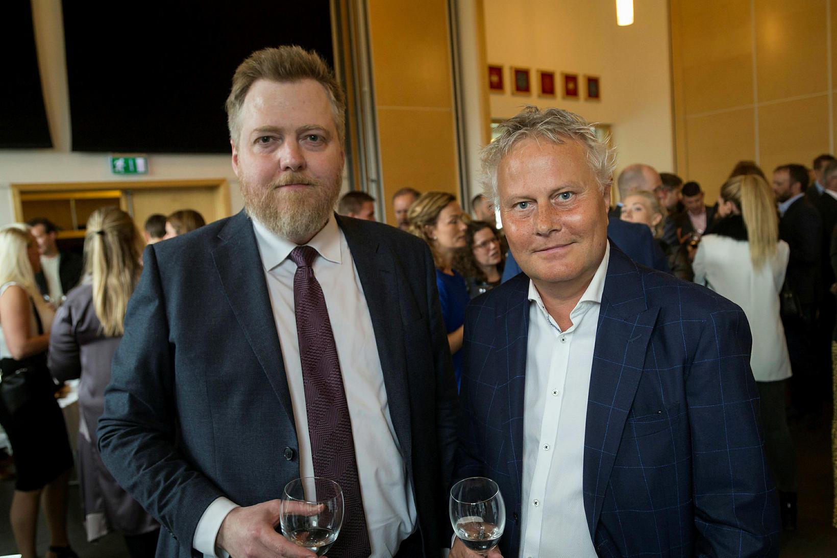 Sigmundur Davíð Gunnlaugsson og Sigurbjörn Þorkelsson.