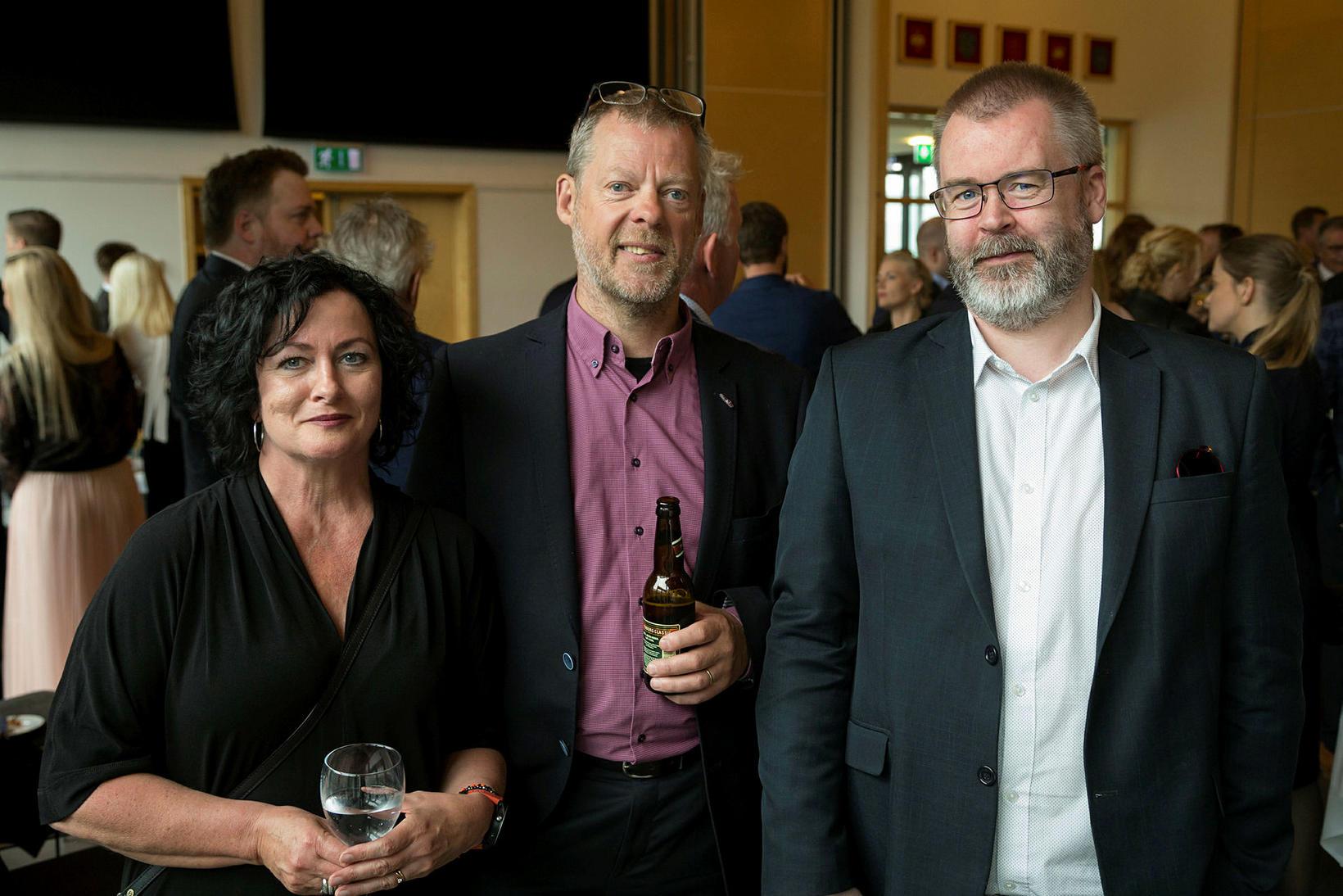 Hrafnhildur Hauksdóttir, Bolli Varlgarðsson og Óli Kristján Ármannsson.