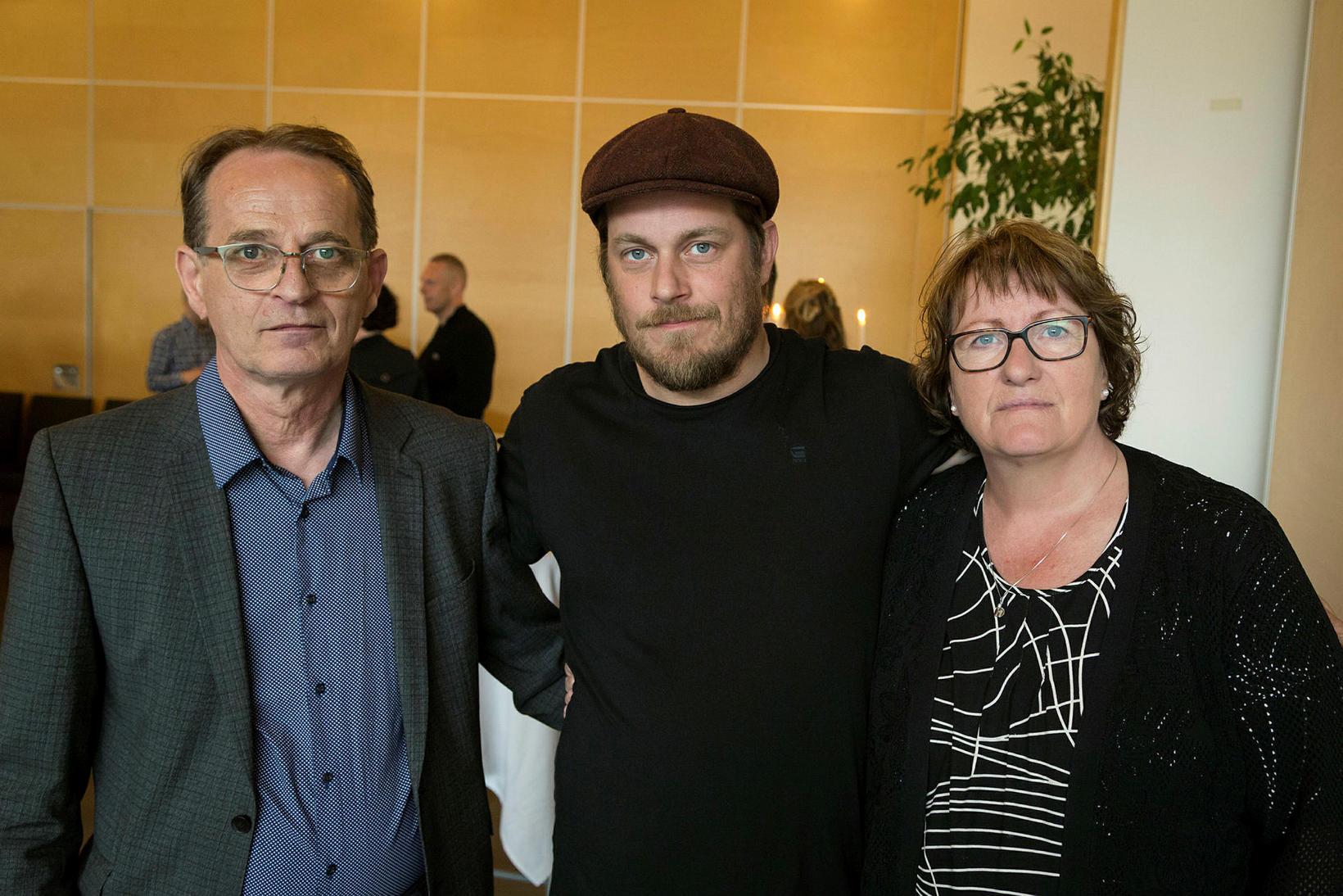 Lúðvík Berg Ægirsson, Tómas Davíð Lúðvíksson og Guðrún Tómasdóttir.